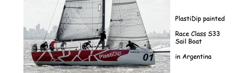 PlastiDip painted - Race Class S33 Sail Boat in Argentina